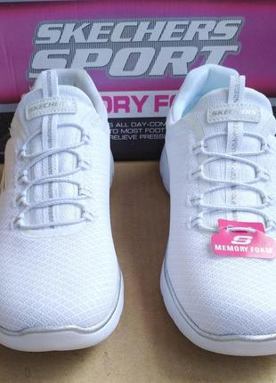 Супер стильные удобные новые лёгкие кроссовки skechers memory foam в коробке2 фото