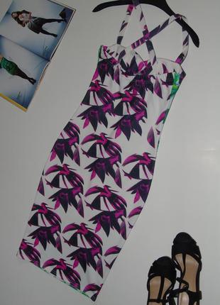 Интерессное платье миди4 фото