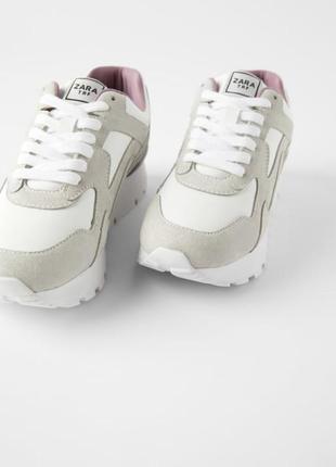 Кожаные кроссовки zara2 фото