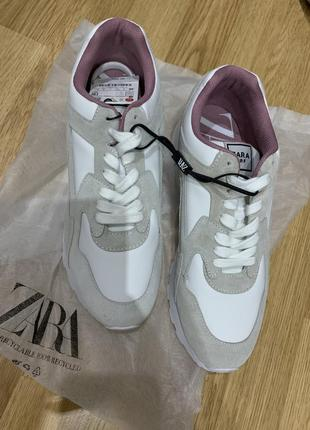 Кожаные кроссовки zara5 фото