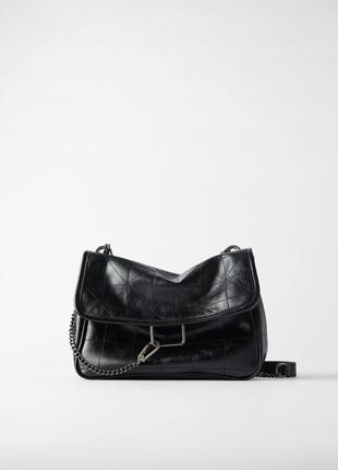 Мягкая сумка с контрастными швами  zara2 фото