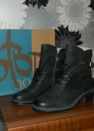 Otbt ботинки черные кожаные сша 38 р.9 фото