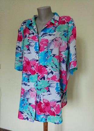 Легкая яркая английская блузочка1 фото