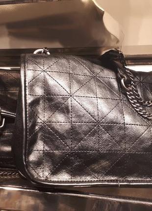 Мягкая сумка с контрастными швами  zara4 фото