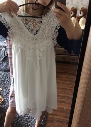 Красивое белое платье3 фото
