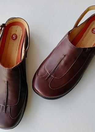 Туфли с открытой пяткой clarks unstructured, размер 37 (европейский 4), полнота d2 фото