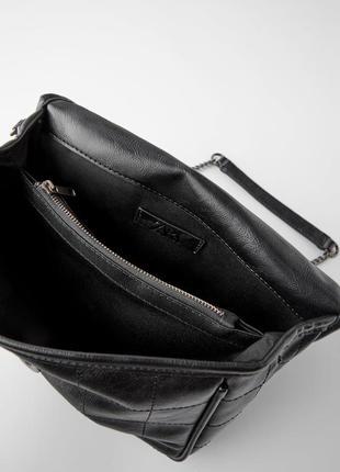 Мягкая сумка с контрастными швами  zara7 фото
