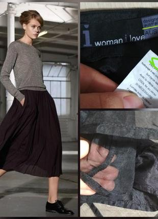Роскошная шелковая юбка миди, 100% шёлк, органза, супер качество!!!1 фото