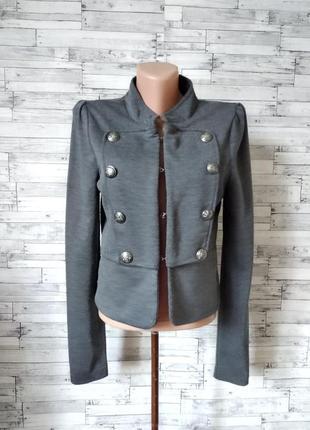 Пиджак женский серый bwny jeans1 фото