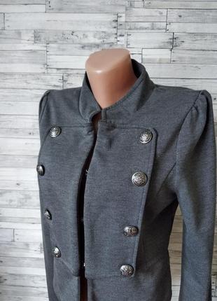 Пиджак женский серый bwny jeans2 фото