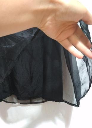 Роскошная шелковая юбка миди, 100% шёлк, органза, супер качество!!!4 фото