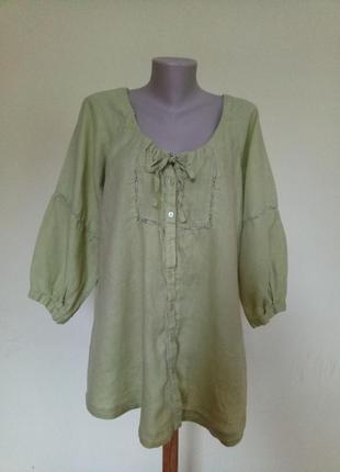 Красивая блузочка лен2 фото