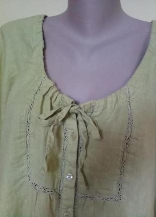 Красивая блузочка лен3 фото