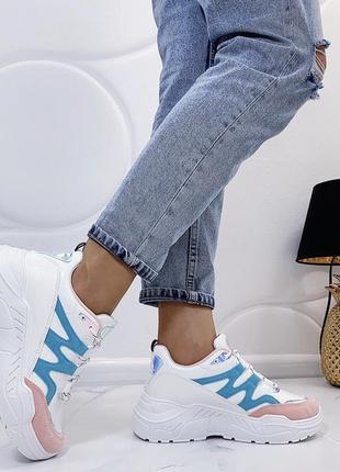 Новые шикарные женские белые кроссовки4 фото
