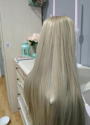 Парик блонд перука2 фото