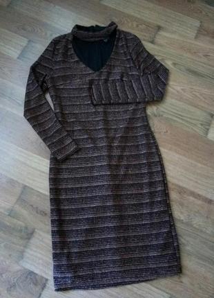 Новое черное платье футляр с бронзовым люрексом от new look3 фото