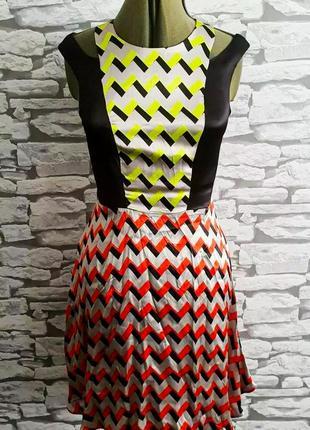 Эксклюзивное платье river island julien smith, 8 р. сатин. новое!1 фото