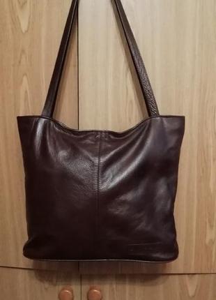 Стильная сумка шоппер, натуральная кожа