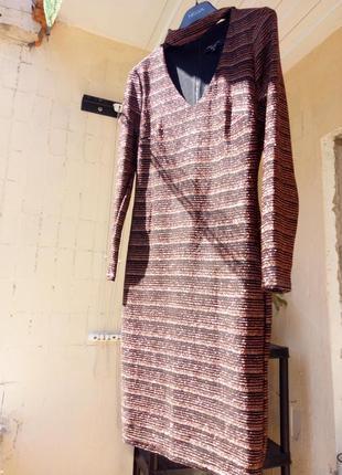 Новое черное платье футляр с бронзовым люрексом от new look1 фото