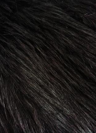 Коричневая черная шубка шуба искусственная искусственного меха штучного хутра под ламу8 фото