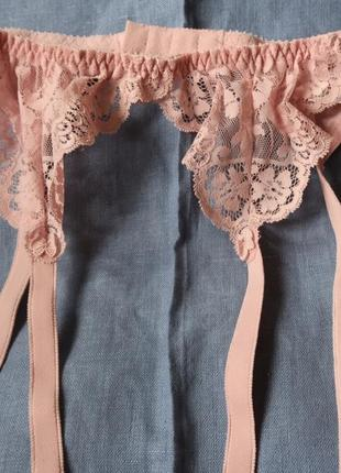 Пояс для чулок розовый винтаж маленький р-р. st.michael1 фото