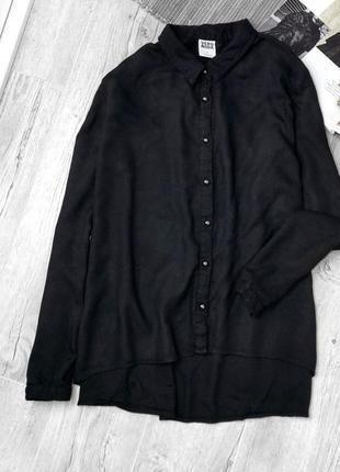 Актуальная чёрная базовая рубашка от vero moda1 фото