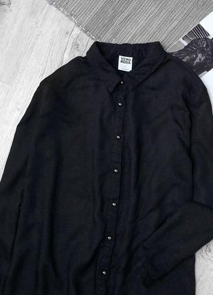 Актуальная чёрная базовая рубашка от vero moda2 фото