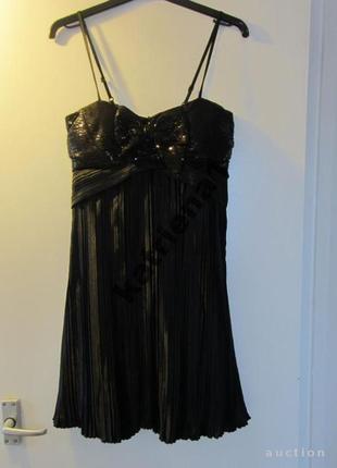 Lbd коктейльное платье bay плиссе / пайетки s-m / новый год, корпоратив