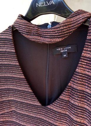 Новое черное платье футляр с бронзовым люрексом от new look4 фото