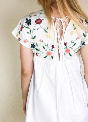 Платье комбинезон с вышивкой5 фото
