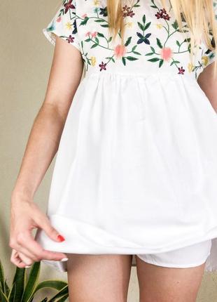 Платье комбинезон с вышивкой6 фото