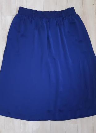 Длинная синяя юбка naf naf3 фото