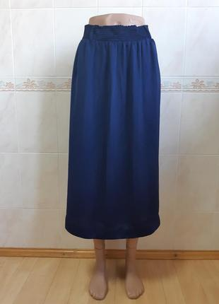 Длинная синяя юбка naf naf1 фото