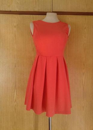 Коралловое платье с кружевной спинкой, s.2 фото