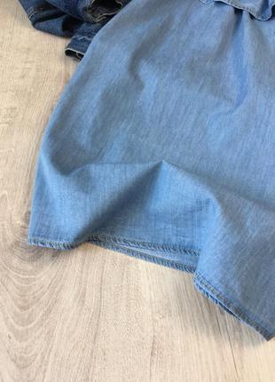 Джинсова сукня із відкритими плечиками5 фото