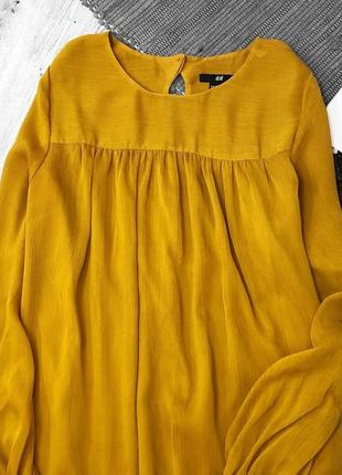 Актуальное нежное платье с длинным рукавом от h&m2 фото