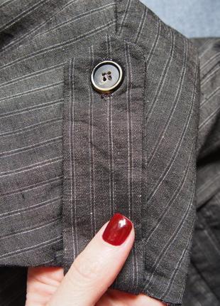 Стильное платье халат кардиган пиджак из льна zara5 фото