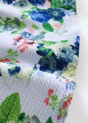 Красивый яркий летний сарафан в нежный принтразмер s  белый и голуьой2 фото