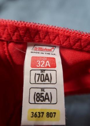 Бюстгальтер красный маленький размер винтаж сток st.michael 85a3 фото