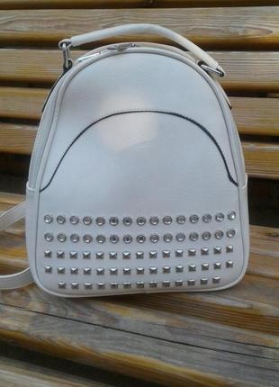 Рюкзак белый1 фото