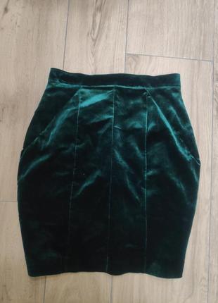 Бархатная юбка1 фото