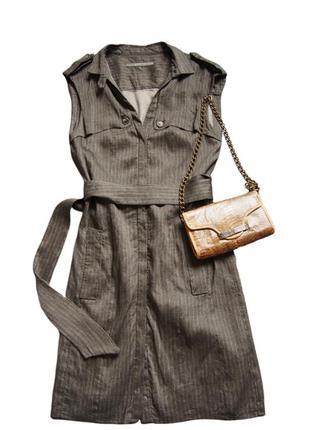 Стильное платье халат кардиган пиджак из льна zara1 фото