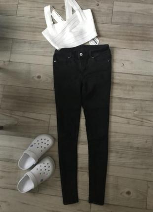 Чёрные узкие джинсы ,зауженные джинсы h&m,штаны со швом