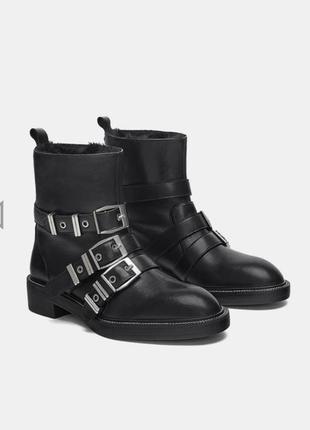 Кожаные ботинки zara1 фото