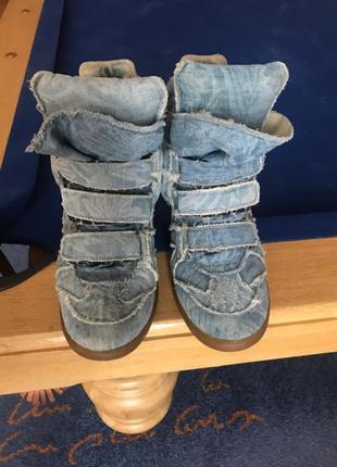 Джинсовые кроссовки isabel marant. оригинал.2 фото