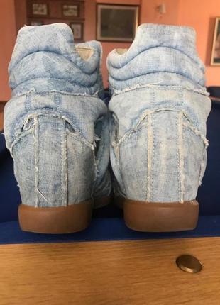Джинсовые кроссовки isabel marant. оригинал.3 фото