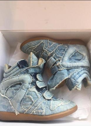 Джинсовые кроссовки isabel marant. оригинал.4 фото