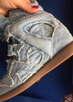 Джинсовые кроссовки isabel marant. оригинал.5 фото