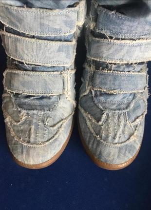 Джинсовые кроссовки isabel marant. оригинал.6 фото