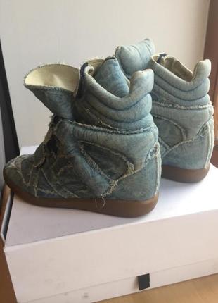 Джинсовые кроссовки isabel marant. оригинал.7 фото